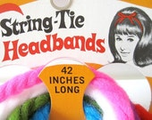Vintage 1960s String-Tie Headbands