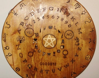wooden witches seance / ouija table top