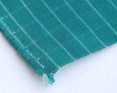 canvas fabric dark green color  square pattern cotton linen canvas