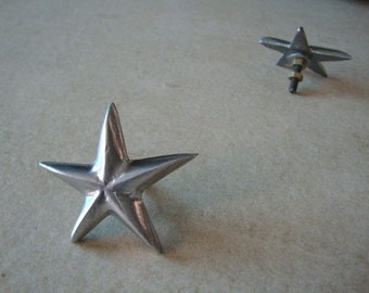 1 star ornament SMALL size for motor bike fender  jars  cars boxes or any place in casted aluminum  - free gift wrapping