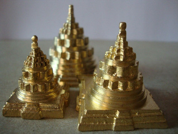 1  big lotus pyramid sculptor paper weight  table top art sculpture in brass  - free gift wrapping and personalized message card