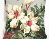 Hollywood Magnolia - 1930s cotton/linen cushion cover (insert not included)