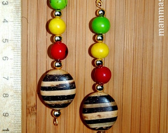 Silifa Rainforest & Wooden Beads Earrings