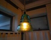 Repurposed Antique Insulator Pendant Light