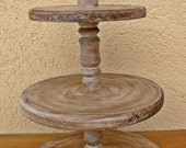 Cupcake Stand 3 Tier Rustic Wedding Cake Stand