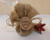 Wedding Burlap Favor Bags Bridal Shower Gift Wrap - SET of 50