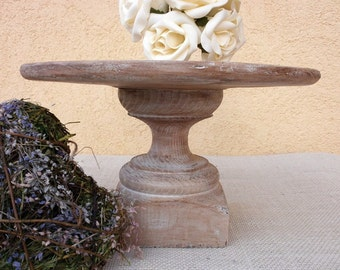 Wedding Decor Rustic Cake Stand / Dessert Stand or Cheese Tray