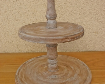 2 Tier Rustic Vintage Wedding Cupcake or Dessert Stand