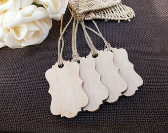 Wood Gift / Favor Tags - SET of 50