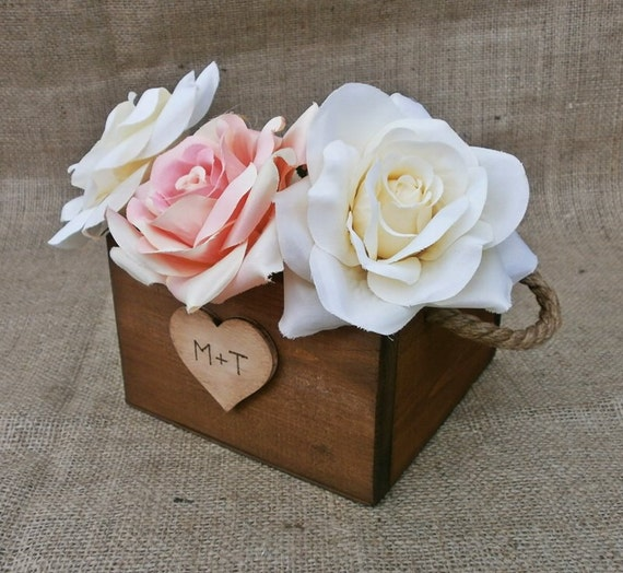 Items similar to wedding centerpiece rustic planter boxes