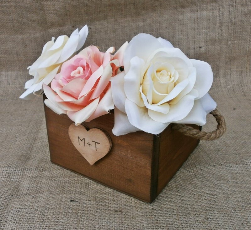 Wedding centerpiece rustic planter boxes decoration
