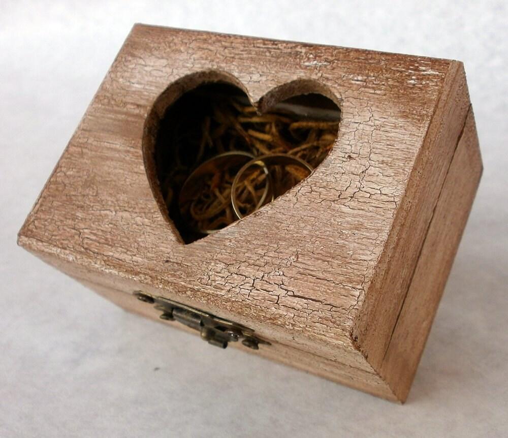 Rustic Ring Bearer Wedding Jewelry Wood Box Bridal Engagement
