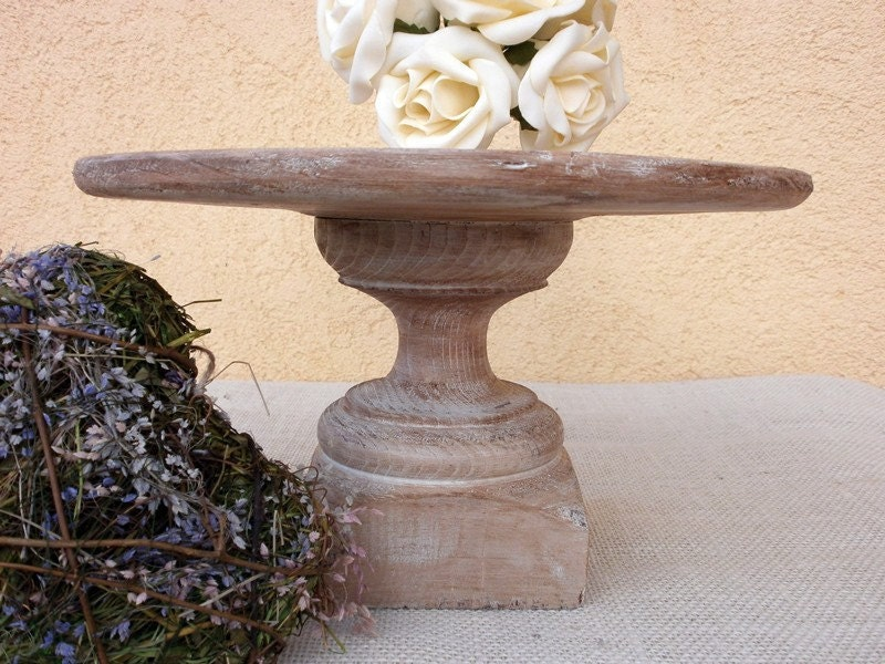 Rustic Cake Stand Wedding Cake Pedestal By