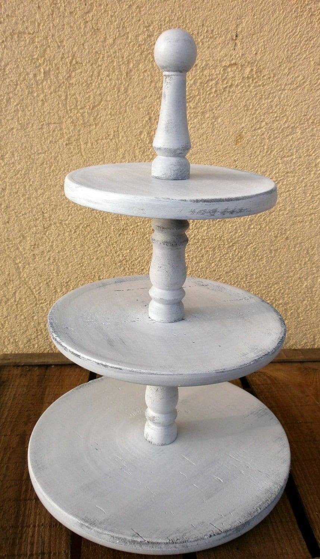 3 tier cupcake stand rustic white wedding by melindaweddingdesign. Black Bedroom Furniture Sets. Home Design Ideas