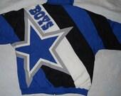 Vintage Dallas Cowboys football apex one jacket hooded parka size large nfl Mint