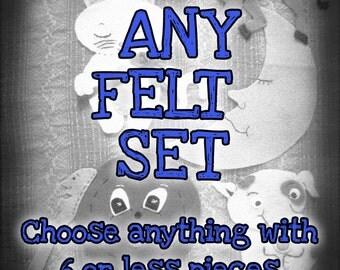 100% Wool Felt Story Set - Your Choice Custom Handmade Set - Educational Story Time Prop