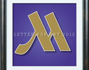 Alphabet Pop Art Print  Using Marriot Logo Letter M
