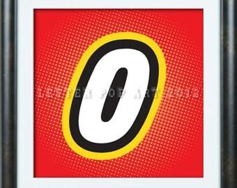 O Alphabet Logo Alphabet Pop Art Print Using lego Logo Letter O ...