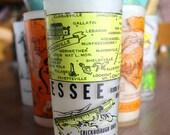Tennesee Souvenir Frosted Glass Hazel Atlas