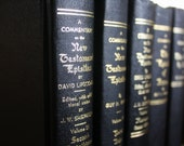 Black Book Set Instant Library of Religious Books - Vintage Book Bundle or Collection-Photo Prop -Shelf Staging