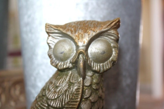 Owl Figurine Chi Omega Ceramic