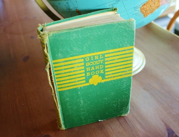 Vintage 1942  Girl Scout Handbook- Scouting Collectible or Fun Graphics for Use in Scrapbooking