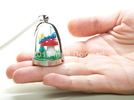 Pendant / charm / keychain / ornament. Alice in Wonderland. One of a kind