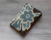 Fabric Card Holder/Mini Wallet - Blue and Brown