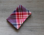 fabric Card Holder/Mini Wallet - Pink and Blue