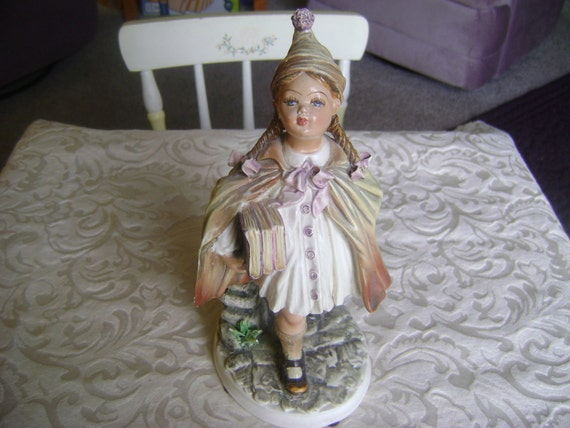 ANTIQUE ITALIAN POTTERY Vintage Boy and Girl Figurines Gorgeous Pair Hand Painted Set