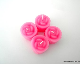 Little Rose Candles  -  4 ct
