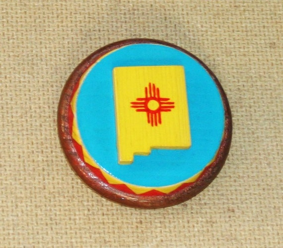 New Mexico Bolo Slide with Brass Disc Back