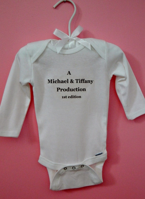 Personalized 1st Edition Bodysuit/ Baby Onesie/ One of a Kind Onesie/ Infant Onesie/ Baby Shower Onesie