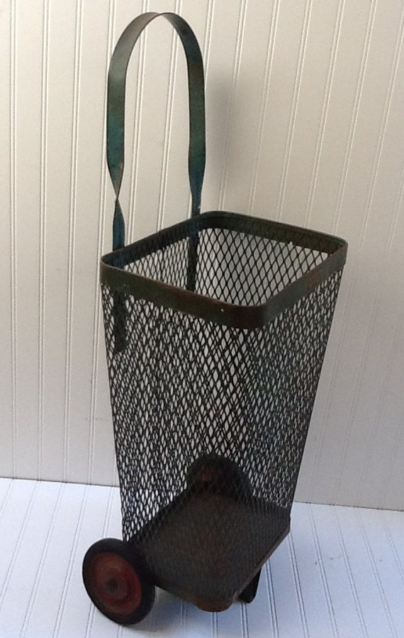 Antique Metal Shopping Cart...REDUCED...