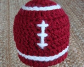Crimson and White Football Hat Photography Prop Made to Order