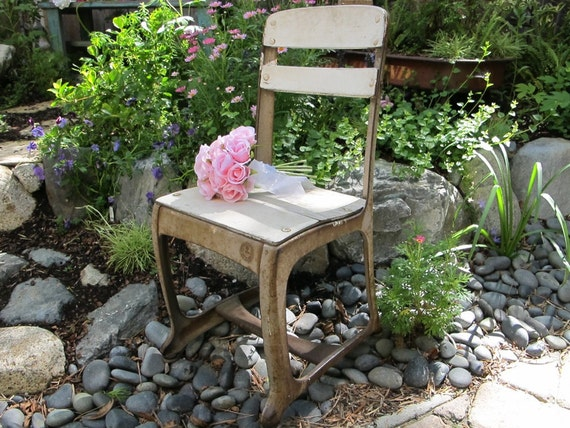 Vintage Chair Child's School Chair Shabby Chic Cottage Chic