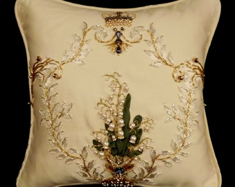 Imperial Lilies of the Valley Pillow
