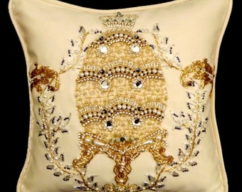 CLEARANCE!  Imperial Triple Tiara Egg Pillow