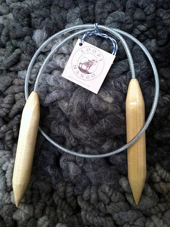 Size 50 circular 45'' long wooden knitting needles