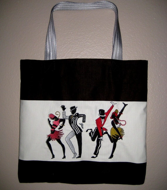 Dance Bag Embroidered Tote LAST ONE