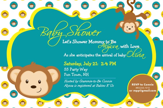 Monkey Boy Invitations for perfect invitation example