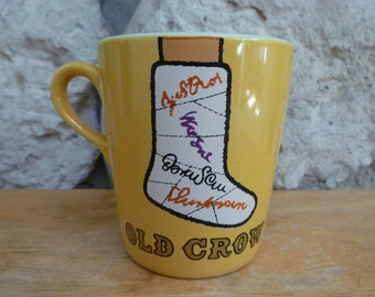 Vintage Old Crow Kentucky Whiskies mug