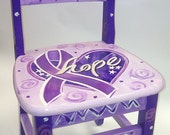 Children's Fight Cancer Time Out Chair in Purple Hope