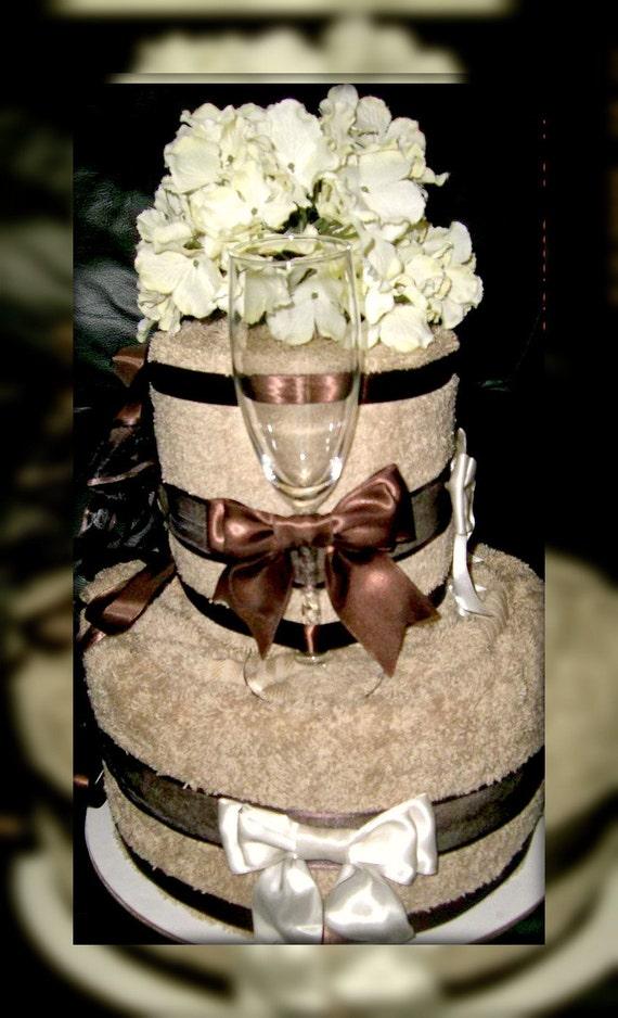 Items similar to Bath Towel Wedding cakes on Etsy