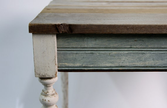 RESERVED New Orleans Reclaimed Wood Table - Eco Friendly Furniture