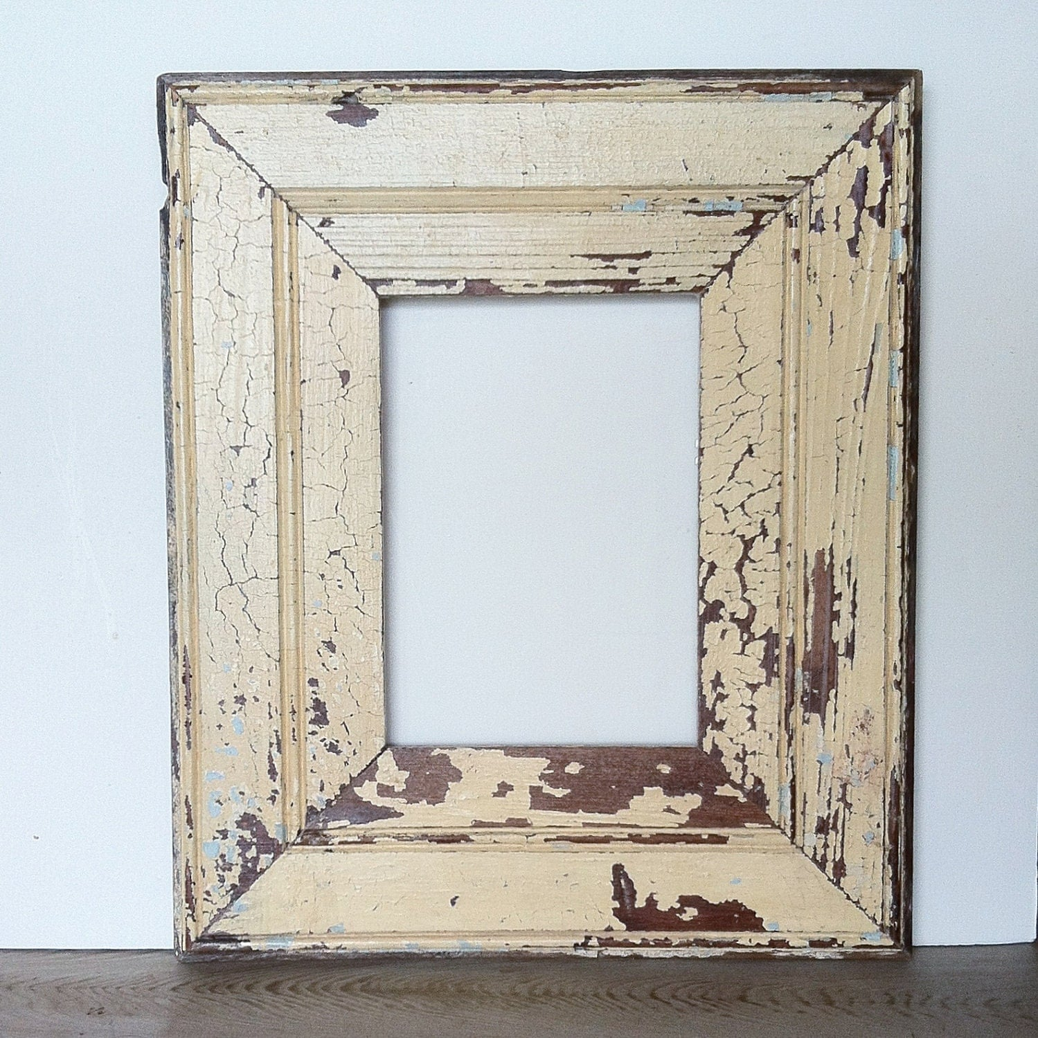 New orleans reclaimed wood frame beadboard antique white - White wooden picture frames ...