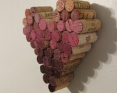 CUSTOM Wine Cork Heart Ombre Wall Hanging Decor