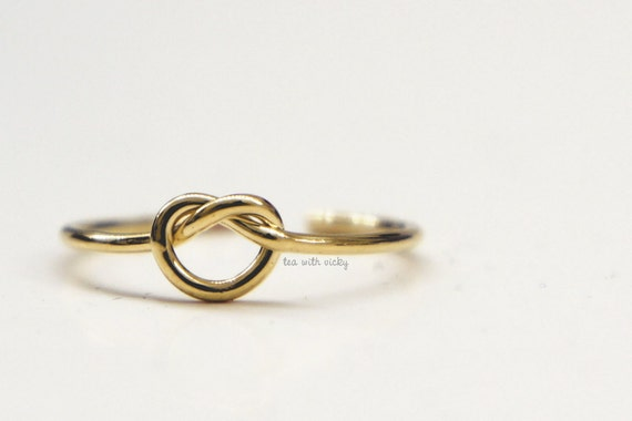 Gold Knot Ring  - Memory, Tea, or Toe Ring