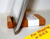 FREE Shipping in U.S.A. - iPad Wood Dock - Pecan Satin