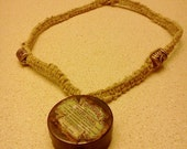 Hemp necklace with stash tin charm